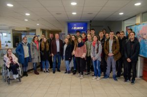 Students of mathematics and nature sciences faculty visited Kaunas FEZ and one of the companies residing there – UAB ''Elinta''